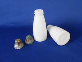 Milk Glass Range Salt & Pepper Shakers - £8.14 GBP