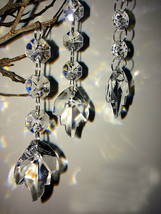 Acrylic Crystal Beads Hot Leaf Garland Chandelier Wedding Party Hanging Decor - $3.99+