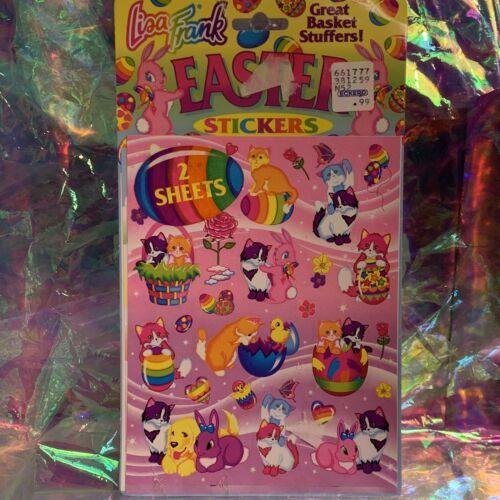 Vintage Lisa Frank Easter Sticker Sheets (2) Sealed In Original Package RARE HTF