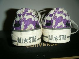 Converse All Star Tennis Shoes Mens 3 Womens 5 Ox Bunny Rabbit Purple Flocked image 8