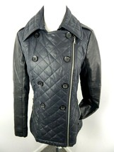 Guess Women's Black Coat Puffer-Leather/Polyester Jacket Size Small - $45.00