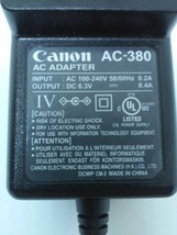 Canon AC Adapter AC-380 Power Supply 6.3VDC 0.4A - $6.93