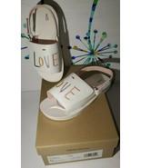 Ellen Degeneres ED Sarella LOVE Sandals Shoes Girls Sz. 12 White Beige - $17.37