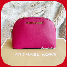 NWT MICHAEL KORS JET SET TRAVEL MD TRAVEL MAKE UP CASE POUCH ELECTRIC PINK - $39.48