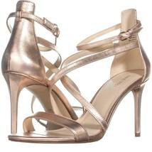 Nine West Retilthrpy Strappy Sandals 309, Pink Metallic, 10 US - $32.25