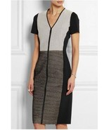 Reed Krakoff Dress Bonded Leather Tweed Sheath Stretch Sides NWT $2490 8 - $295.02