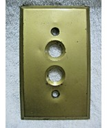 Vintage BRASS 2 BUTTON Switch Plate-Restoration-Farm House-Electrical-El... - $15.95
