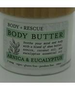 Body + Rescue Body Butter Arnica & Eucalyptus 454g vegan gluten & parabe... - $24.74