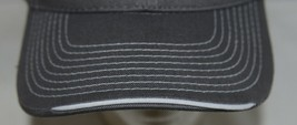 OC Sports BTP 100 Twill Cotton Cap Grey Visor Piping Accent White Adult image 2