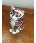 Estate Royal Crown Red White & Blue w Gilt Porcelain Imari Kitty Cat Fig... - $47.43