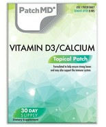 New Formula! PatchMD Vitamin D3 Calcium Patch 30-patches Patch-MD VD/C - $14.99