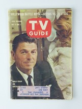 Ronald Reagan Dorothy Malone Vintage TV Guide 1961 Magazine - $11.83