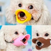 1x Silicone Dog Anti Bite Mouth Muzzle Duck Shape For Small Pet Accessor... - $5.93+