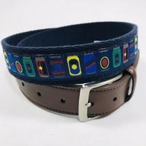 Tommy Bahama Men's Nautical Theme Belt.Navy.Size Large 38-40.MSRP$68.00 - $51.30