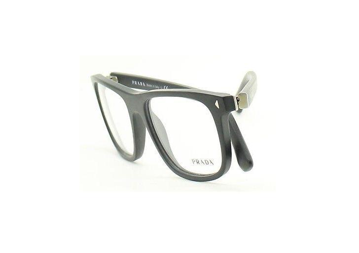 Prada Journal Eyeglasses VPR 03R c. 1BO1O1 in Matte Black 55mm