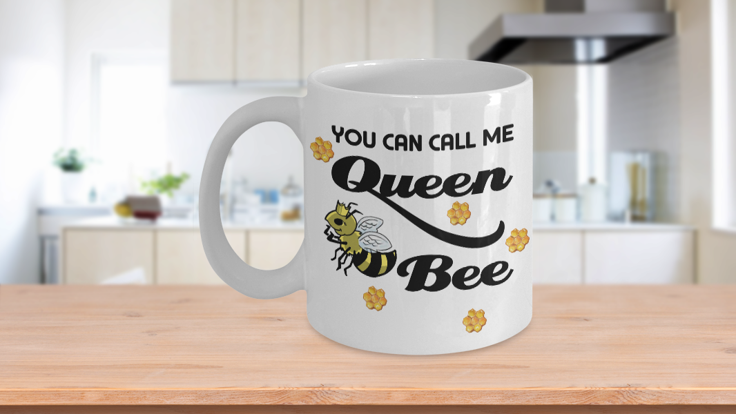 Queen Bee Coffee Mug Gift You Can Call Me Funny Quotes - $14.84 - $17.81