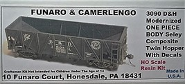 Funaro & Camerlengo HO D&H Seley twin hopper, modernized ONE PIECE BODY Kit 3090 image 1