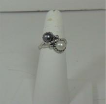 Avon Faux Grey & White Pearl Ring - $10.88