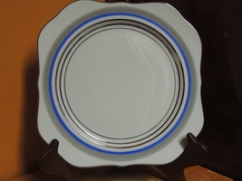 "Vintage Meito China 7.75"" Luncheon Plate Mei88 pattern Blue Gray Platinu... - $8.99"