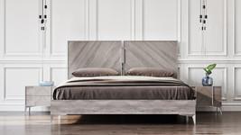 Nova Domus Alexa Italian Modern Grey Bed - $1,099.00+