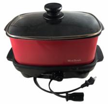 West Bend 84915R 5-Quart Versatility Slow Cooker Red - $30.92