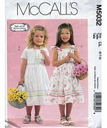 McCall's Pattern #M5032 SIZE: CL (6-7-8)CHILDREN'S & GIRLS' LINED JACKET... - $2.92