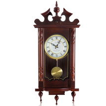 Bedford Clock Collection Classic 31 Inch Chiming Pendulum Wall Clock in ... - $136.91