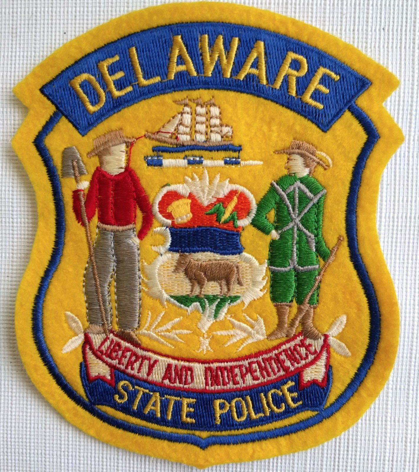 Primary image for NEW DELAWARE STATE POLICE Liberty And Independence Embroidered Patch Authentic