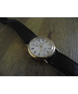 Vintage dress watch / Sub dial Quartz watch / white faced watch  - $65.00