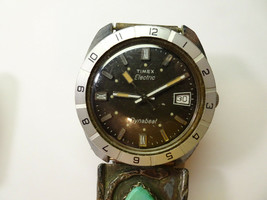 TIMEX DYNABEAT electric with Turquoise inlay band watch for VINTAGE rest... - $169.32