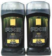 2 Count Axe 3 Oz Gold Oud Wood & Dark Vanilla All Day Fresh Protection D... - $22.99