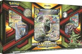 Pokemon Mega Tyranitar Ex Premium Collection Box Sm Guardians Rising Cards Promo - $34.99