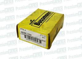 BOX OF 10 COOPER BUSSMANN KTK-4 LIMITRON FUSES CLASS MIDGET 4 AMP 600V ATM4 NIB