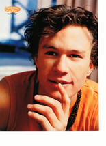 Heath Ledger teen magazine pinup clipping orange shirt close up Tiger Beat