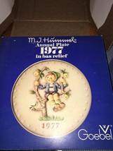 Hummel Goebel Annual Plate 1977 with Original Box - $25.00