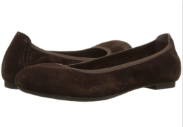 Born Julianne Ballet Flat Shoes Dark Brown Suede Size 6.5 M - $34.64