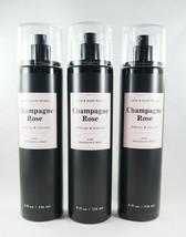 (3) Bath & Body Works Champagne Rose Black Pink Fragrance Spray Mist 8oz... - $33.15