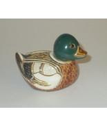 Mallard Duck Artesania Rinconda Figurine New Without Box Gold Silver Acc... - $54.44