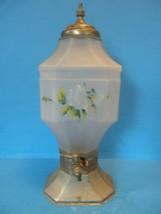 ANTIQUE FROSTED GLASS LEMONADE/ICED TEA DISPENSER WITH SPIGOT - $49.49