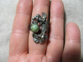 Mid.Century 925 Brutalist Modernist Free Form Nuggets Turquoise Stone ring s.8.5 - $39.99