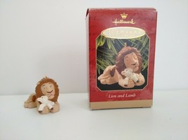 Lion & Lamb Hallmark Keepsake 1997 Ornament 06602 - $9.89