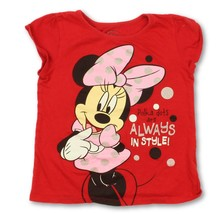 Disney Minnie Mouse Toddler Girls Red Graphic T-Shirt Size 5T - $9.08