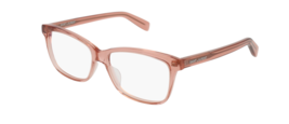 Saint Laurent  SL 170 004 Eyeglasses Crystal Peach Square Frame 54mm - $118.79