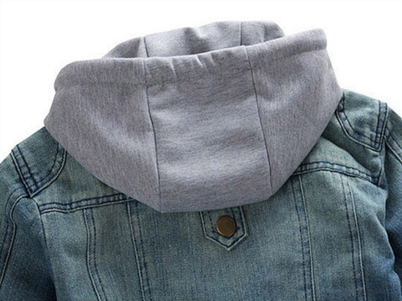 New Men's Plus Denim Jacket Ultra-thin Hooded Men's Denim Jeans Outwear Fashion