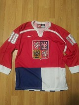 Vintage 1998 Jaromir Jagr Czech Republic Olympic Sewn Stitched Jersey SZ 44 - $98.99