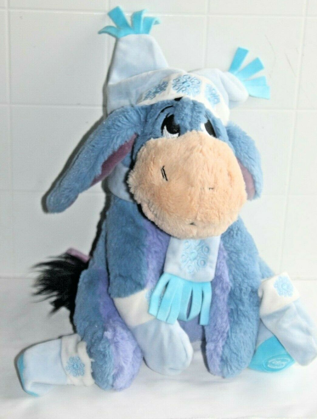 Primary image for Disney Store Exclusive Plush Nordic Pooh's Eeyore Winter Christmas Holiday 12""