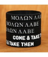 Molon Labe Come and Take Them Wristband Bracelet Set Wholesale Lot (2-10... - £4.24 GBP+