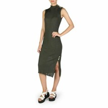 Guess Women Dress Khaki Green Midi Turtleneck Bodycon Wrap Size XS - $102.52