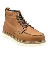 King Rocks Men's Moc Toe Construction Boots Work Shoes 7.5 DM Brown - $64.33