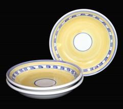 "3 Caleca SARA Handpainted Blue Yellow White  HVY 8-3/4"" Pasta Bowls Ital... - $39.99"